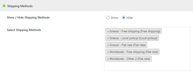 WooCommerce Hide Products, Categories, Prices, Payment and Shipping by User Role - 4