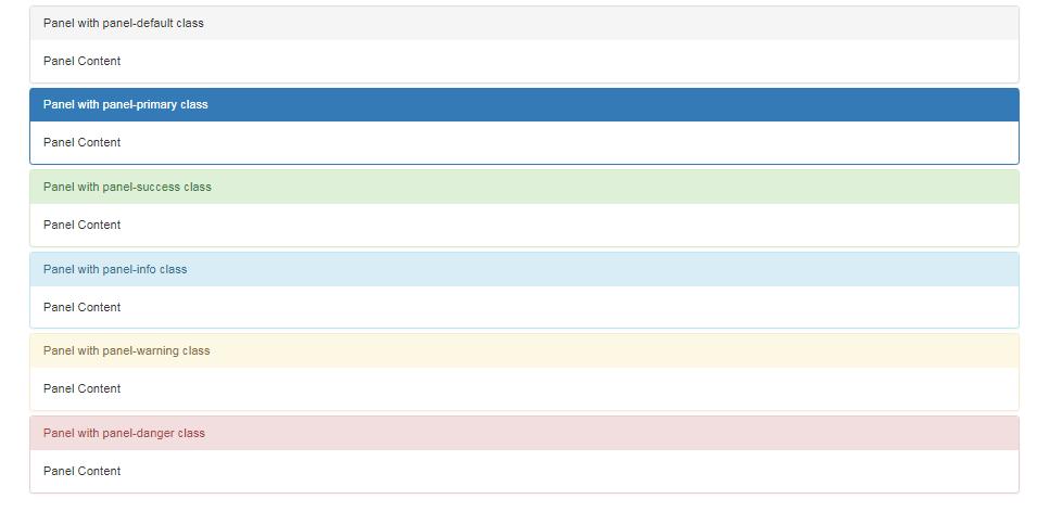 Bootstrap 3 Panel