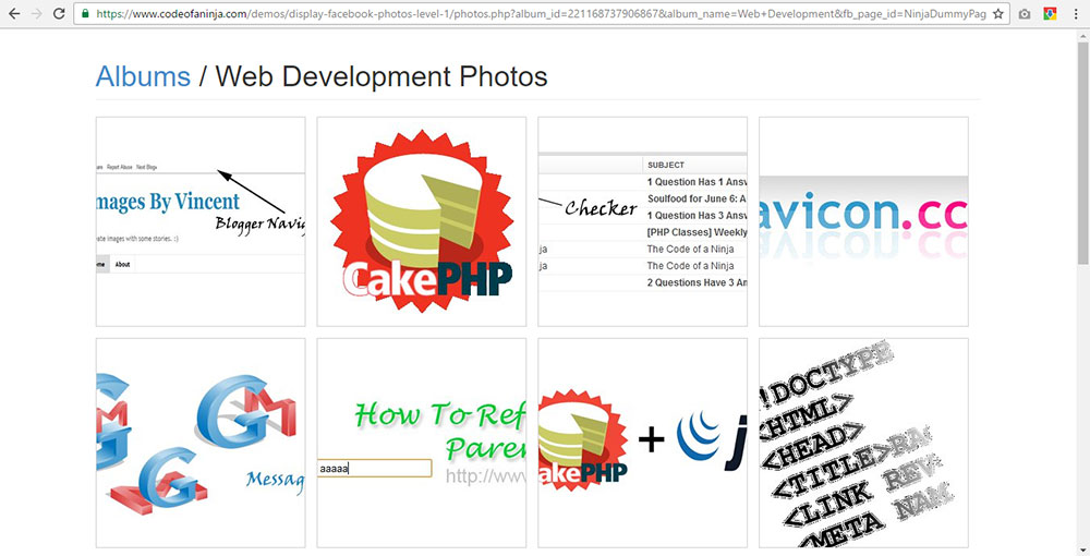 How To Display Facebook Page Photo Albums on Website Using PHP?