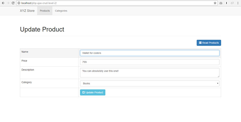 AJAX CRUD Tutorial Using jQuery, JSON and PHP - Step by Step Guide!