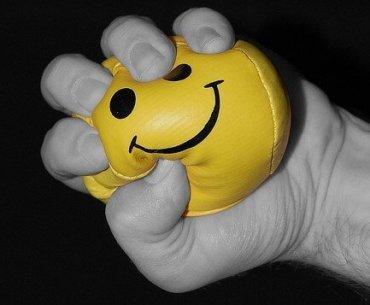 happy stress ball