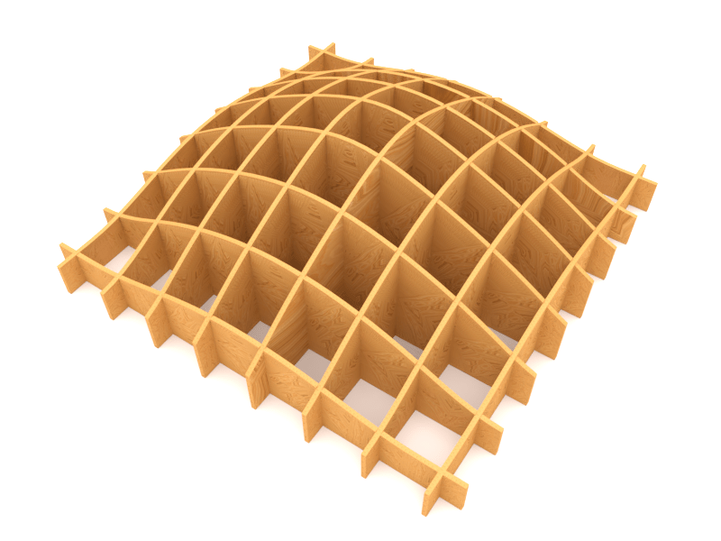 Waffle structures with Waffle node in Sverchok - CodePlastic