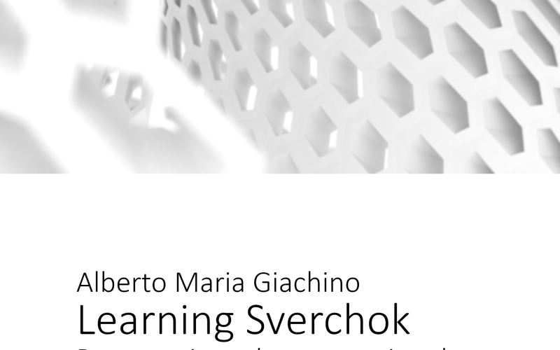 Learning Sverchok front page
