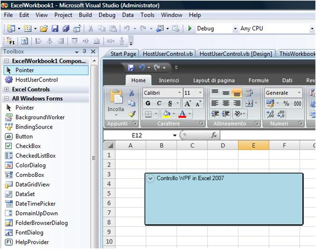 Use Wpf Controls In Vsto Solutions With Visual Basic