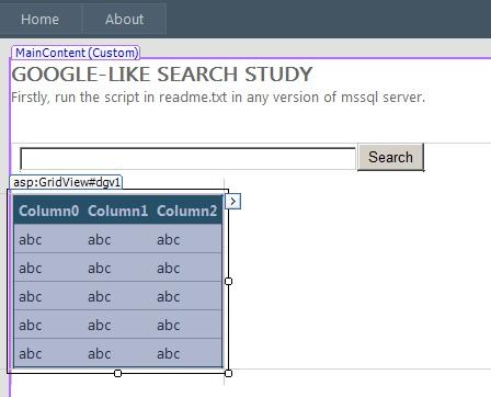 google like search in asp.net