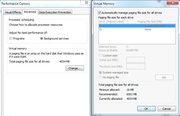 Virtual Memory Increase Page File