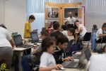 i ragazzi di CoderDojo Brianza durante uno degli appuntamenti di coding