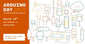 Arduino Day 2019, locandina ufficiale dell'evento