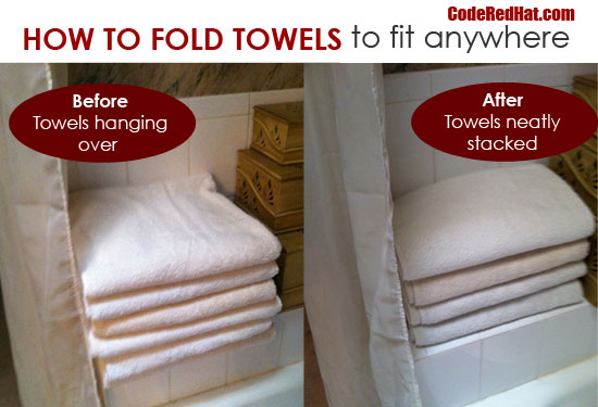 Folded Towels Before and After