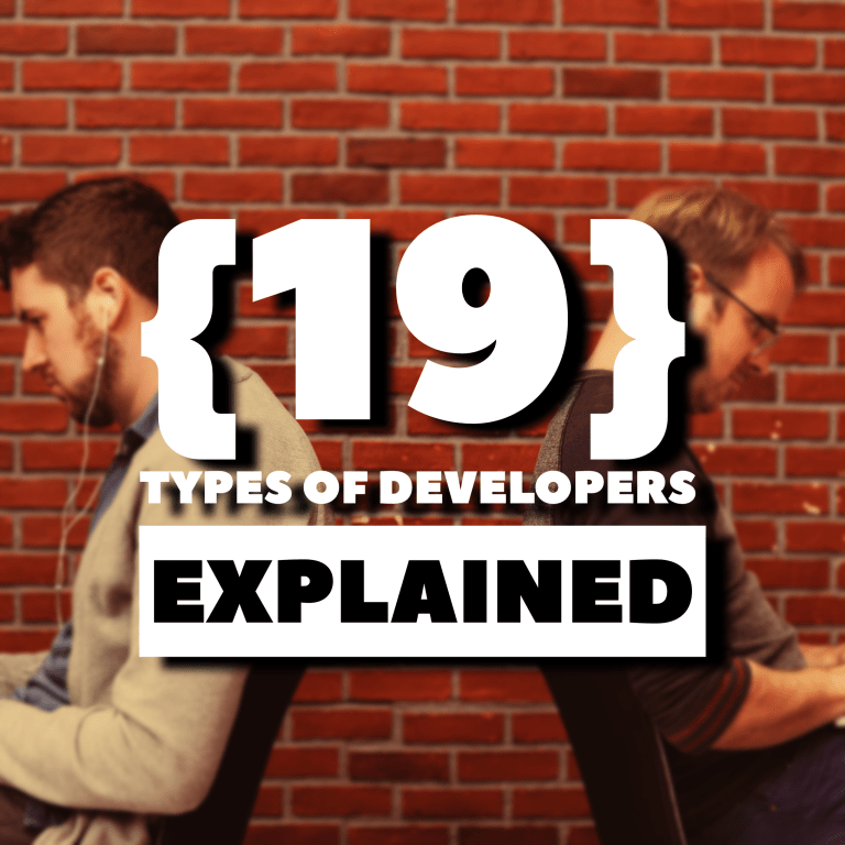 19 Types of Developers Explained