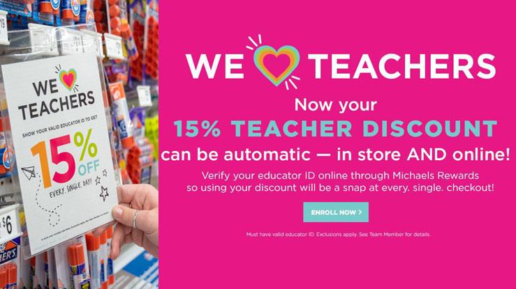 michaels coupon for teachers