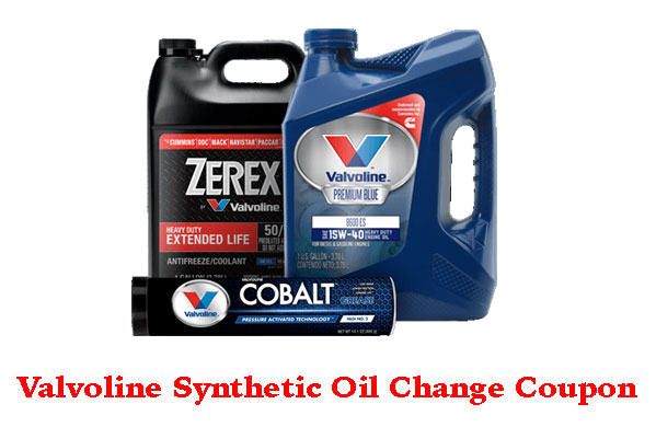 Valvoline Oil Change Coupon