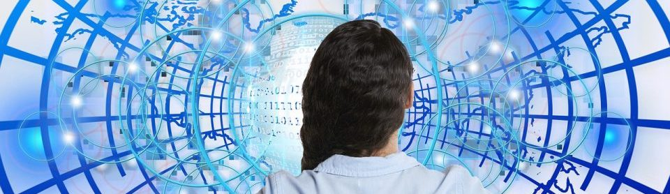 Woman contemplates the encrypted web