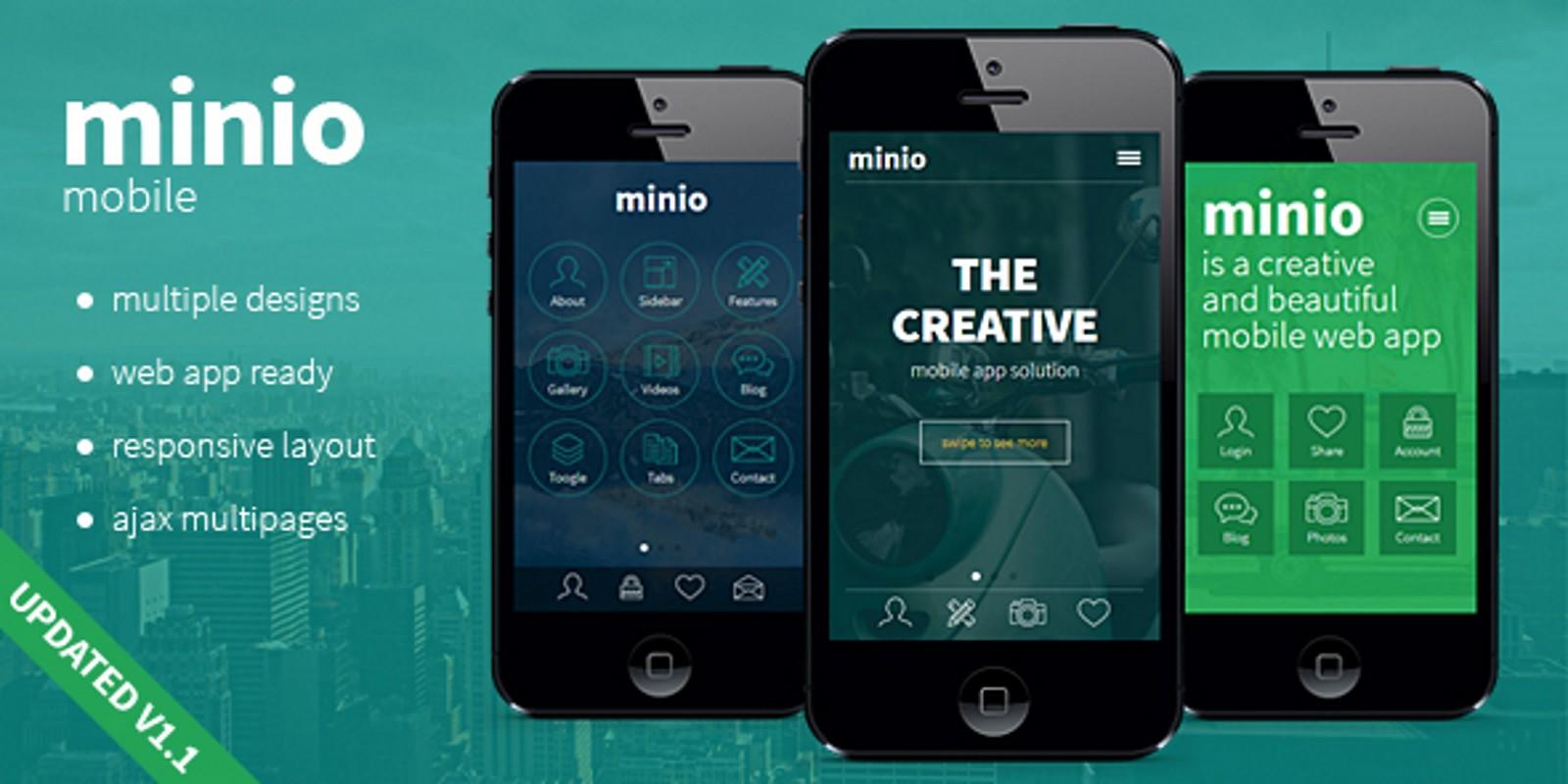 Minio Mobile HTML Template HTML Mobile Templates