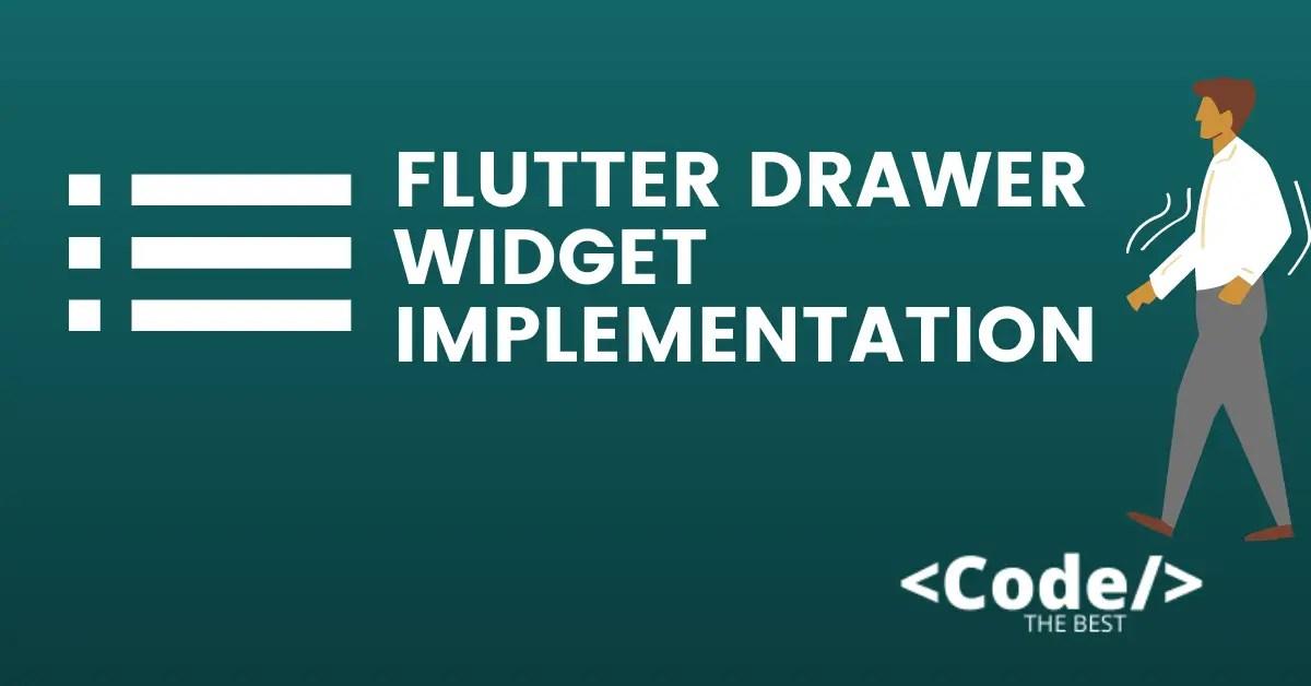 Flutter Drawer Widget Implementation featured image