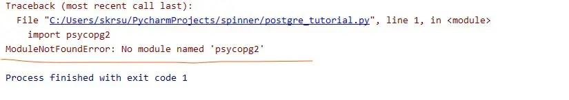 No module named psycopg2 error