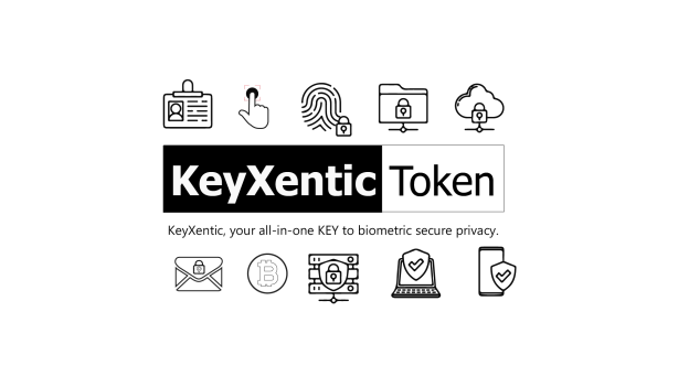 The Keyxentic Token provides biometric encryption cybersecurity solutions