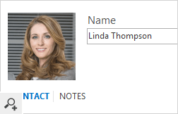 An Office 365 user photo displayed in an Outlook 2016 contact