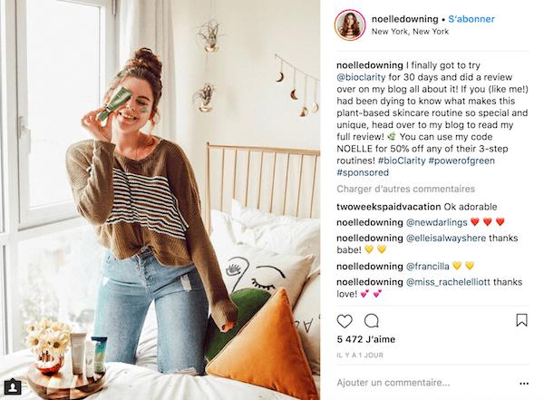Monétisation produit Instagram