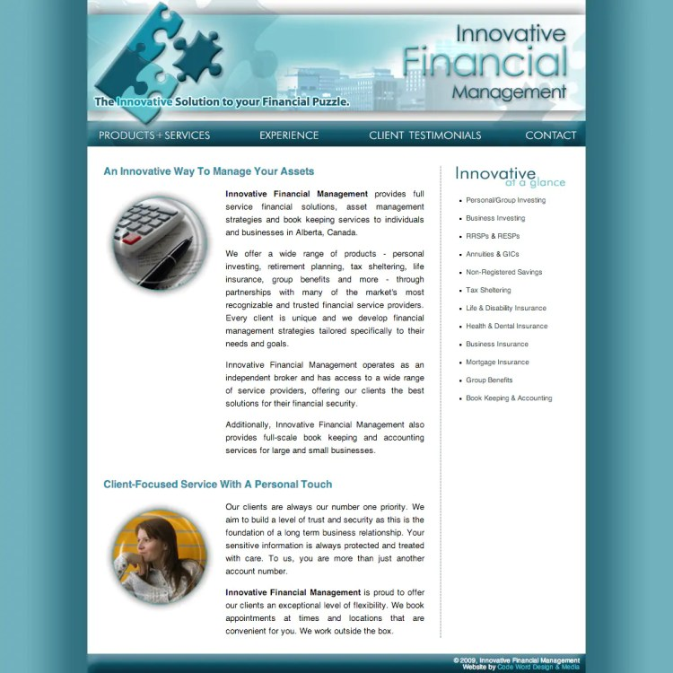 Innovative Financial Management Website