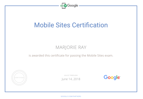 Marjorie-Ray-Codewryter-Mobile-Developer-Google-Certificate