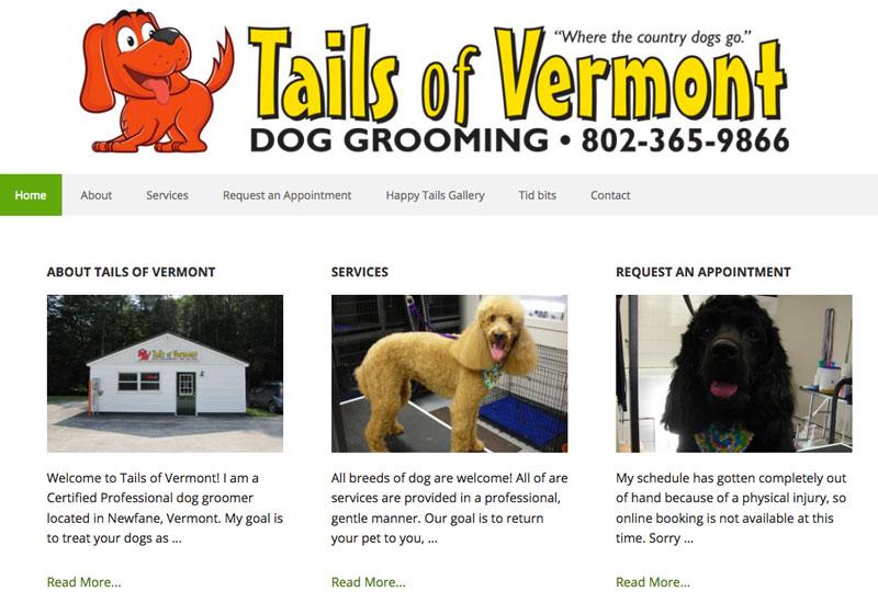 Tails of Vermont Web Design Newfane