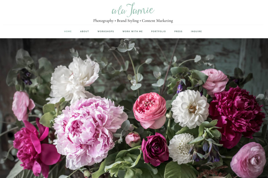 New Website for Jamie Jamison Instagram Photographer Content Strategist