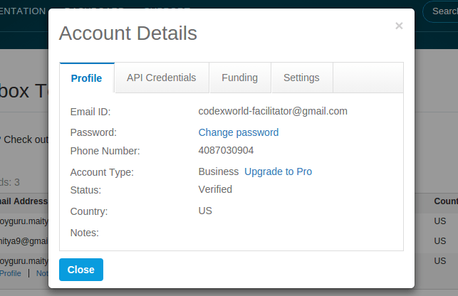 paypal-sandbox-account-details-dialog-by-codexworld