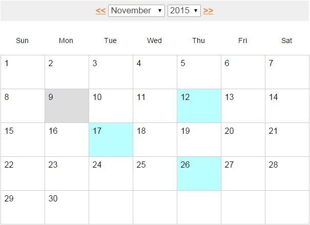 Calendar Design Using Jquery : Build an event calendar using jquery ajax and php