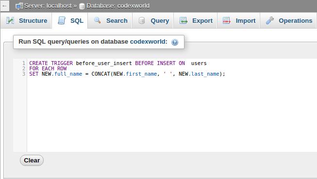 How To Create Drop Trigger In Mysql Codexworld