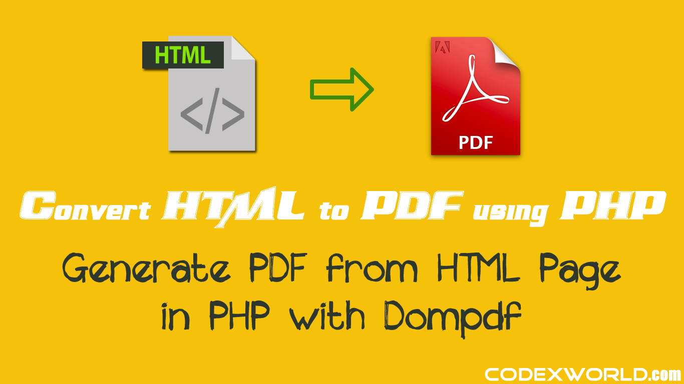 Convert html to pdf with dompdf php library | markupdrive.