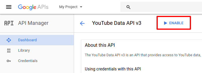 How to Create YouTube Data API Key - CodexWorld