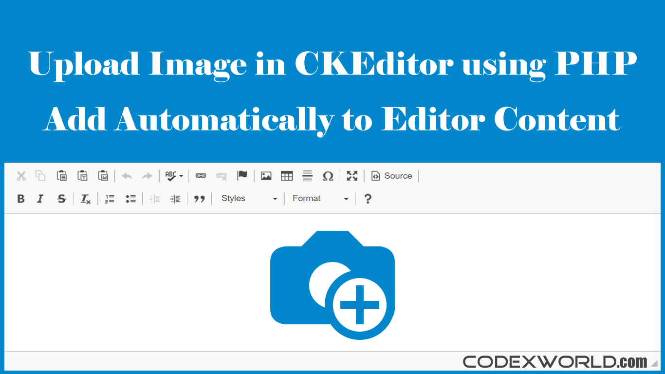 Upload and Insert Image in CKEditor using PHP - CodexWorld