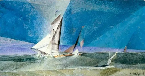 Feininger Fisher off the coast 1941