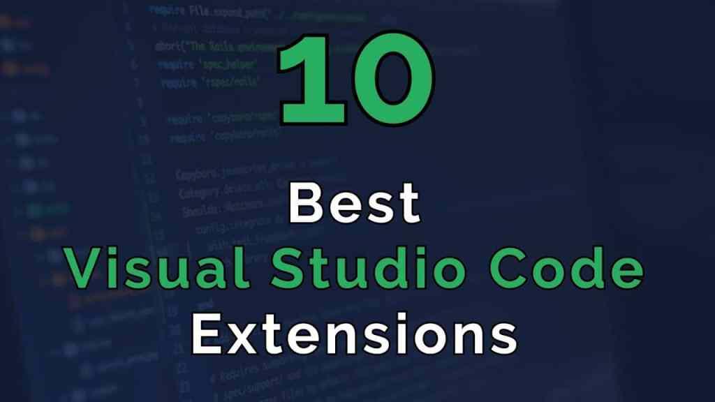 best extension vs code