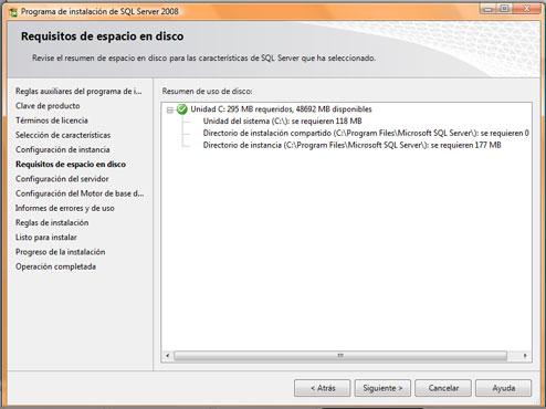 Como instalar SQL Server 2008. Resumen