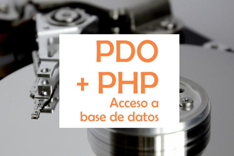 Bases de datos usando PDO