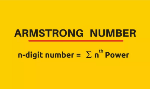 Armstrong Number Formula in Mathematical Expression for Calculation Armstrong in Java Programming