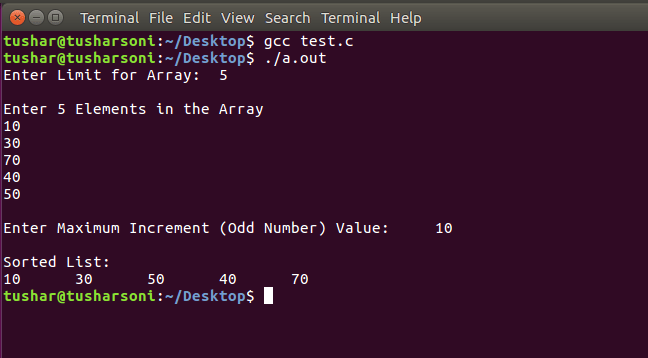 Sort Array Elements using Shell Sort Algorithm in C Programming
