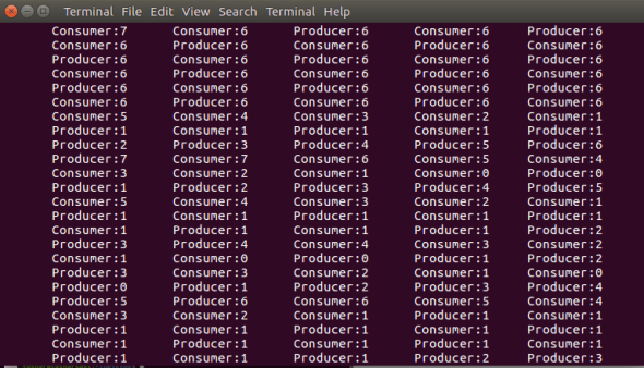 C Program For Producer Consumer Problem using PThread