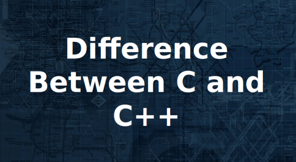 Find Difference Between C and C++ witd Tabular Format and witd Points