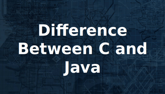 Find Difference Between C and Java in Tabular Format and Points