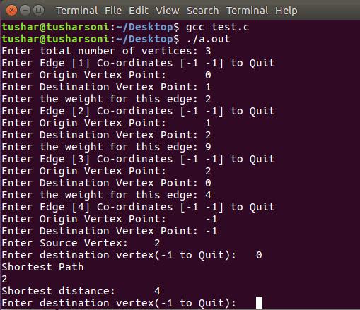 C Program For Dijkstra's Algorithm To Find Shortest Path