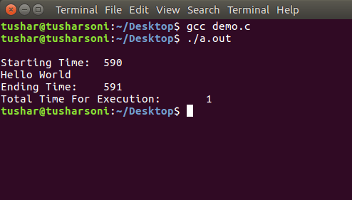 C Program To Calculate Execution Time of a Program