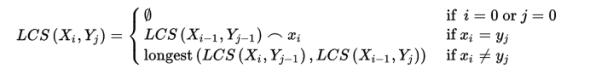 LCS Problem Algorithm Function
