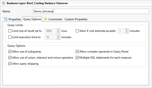 Enable Query Stripping at Universe Level in Information Design Tool 4.1