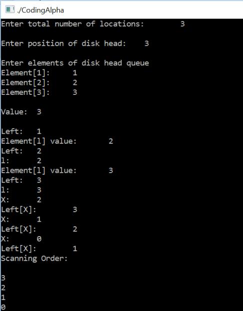 Scan Disk Scheduling Algorithm in C Programming