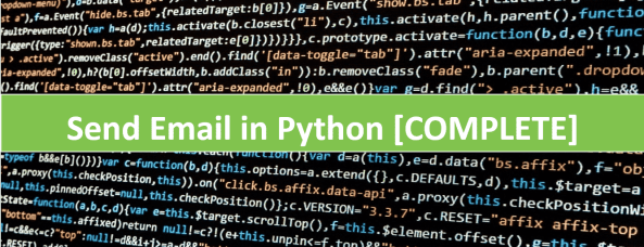 How to send email in Python using SMTP server via Gmail and Outlook email services completely explained