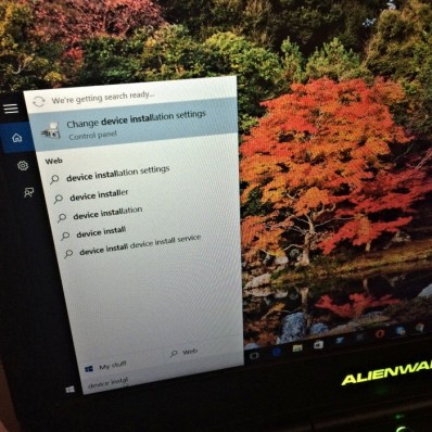 change device installation
