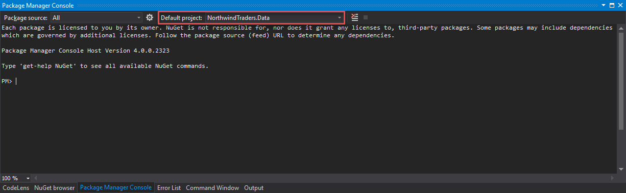 Create Northwind Traders Code First with Entity Framework